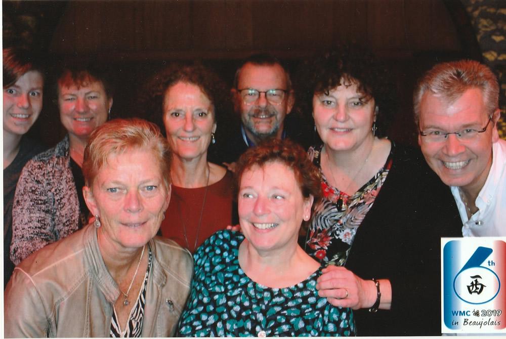 Luuk, Jacqueline, Yvonne, Christien, Jan, Marjoleine, Wil en Eric